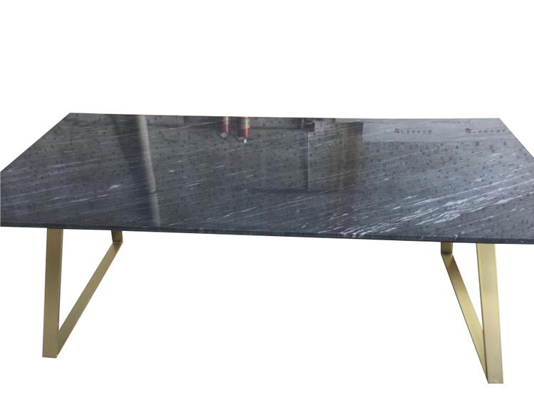 Matbord - ESTELLE (Svart/matt mässing)
