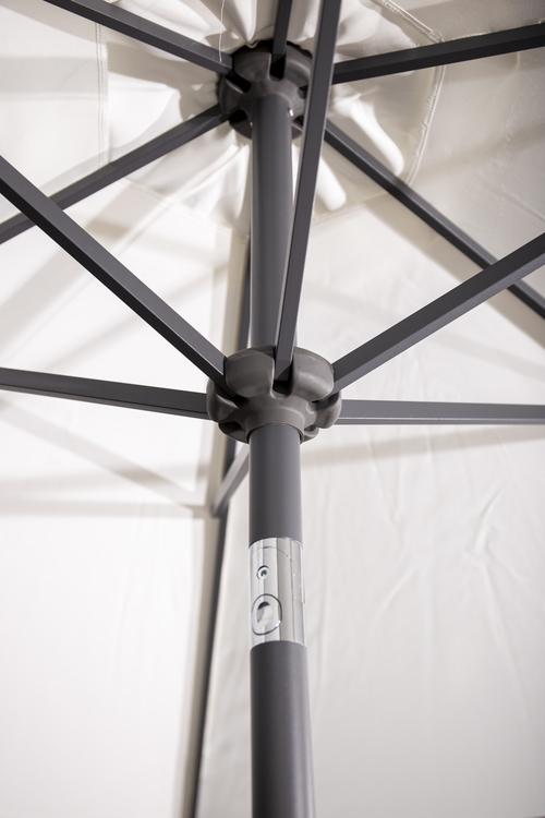 Parasoll - Leeds 3m, centrerad stolpe