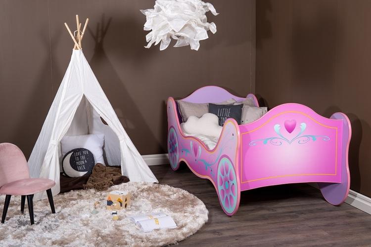 Barnsäng - Rosa vagn