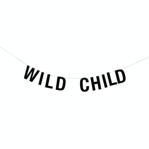 "Bloomingville Girlang Svart - ""Wild child"""