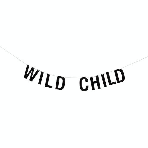 """Bloomingville Girlang Svart - """"Wild child"""""""