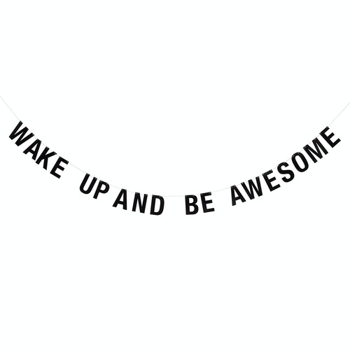 "Bloomingville Girlang Svart - ""Wake up and be awesome"""