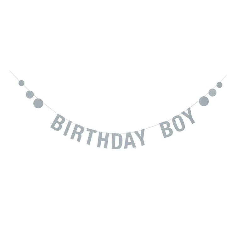 "Bloomingville Girlang Blå - ""Birthday boy"""