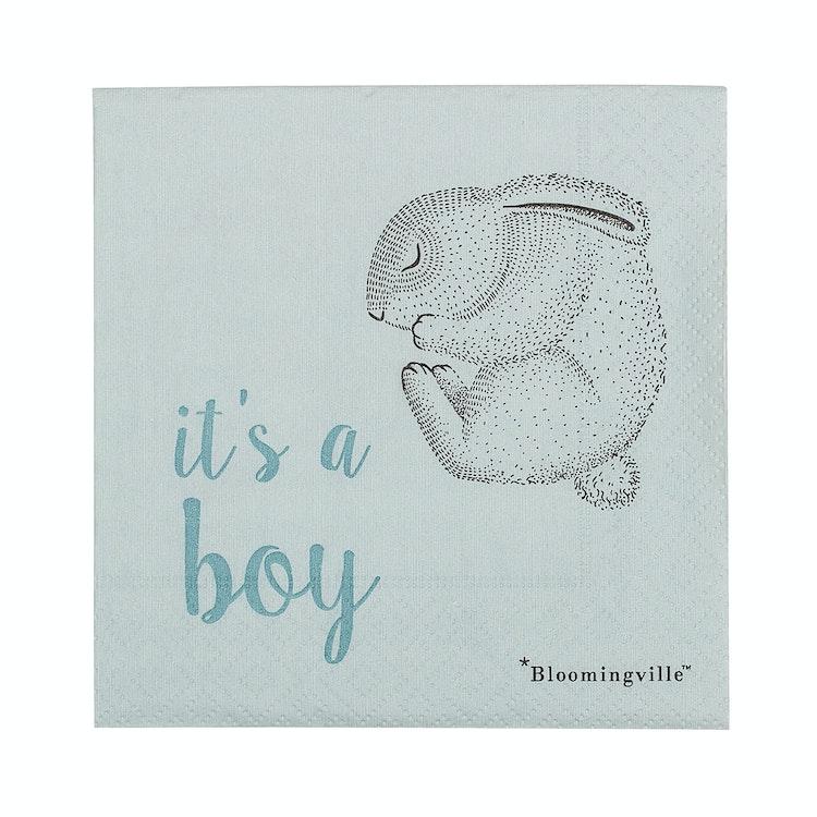 """Bloomingville Servetter Blå - """"It's a boy"""""""