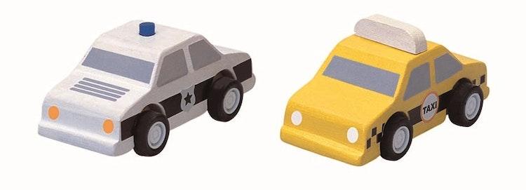 Plantoys Taxi & Polisbil
