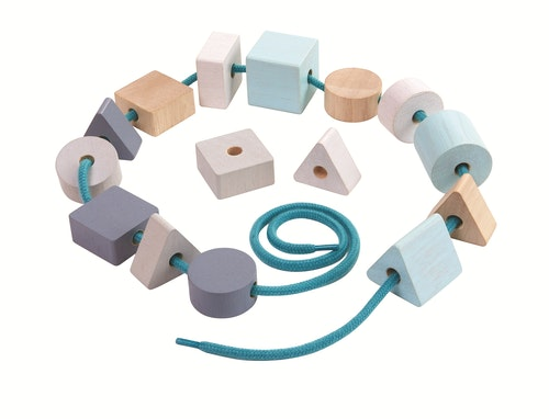 PlanToys Geo Lacing Beads