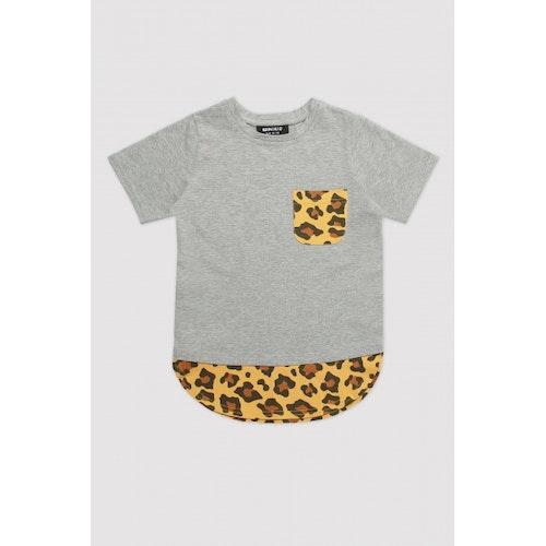 MINIKID - T-shirt Grey & Leopard