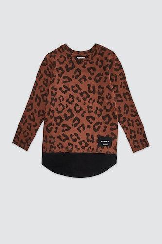 MINIKID - Longsleeve Leopard brown