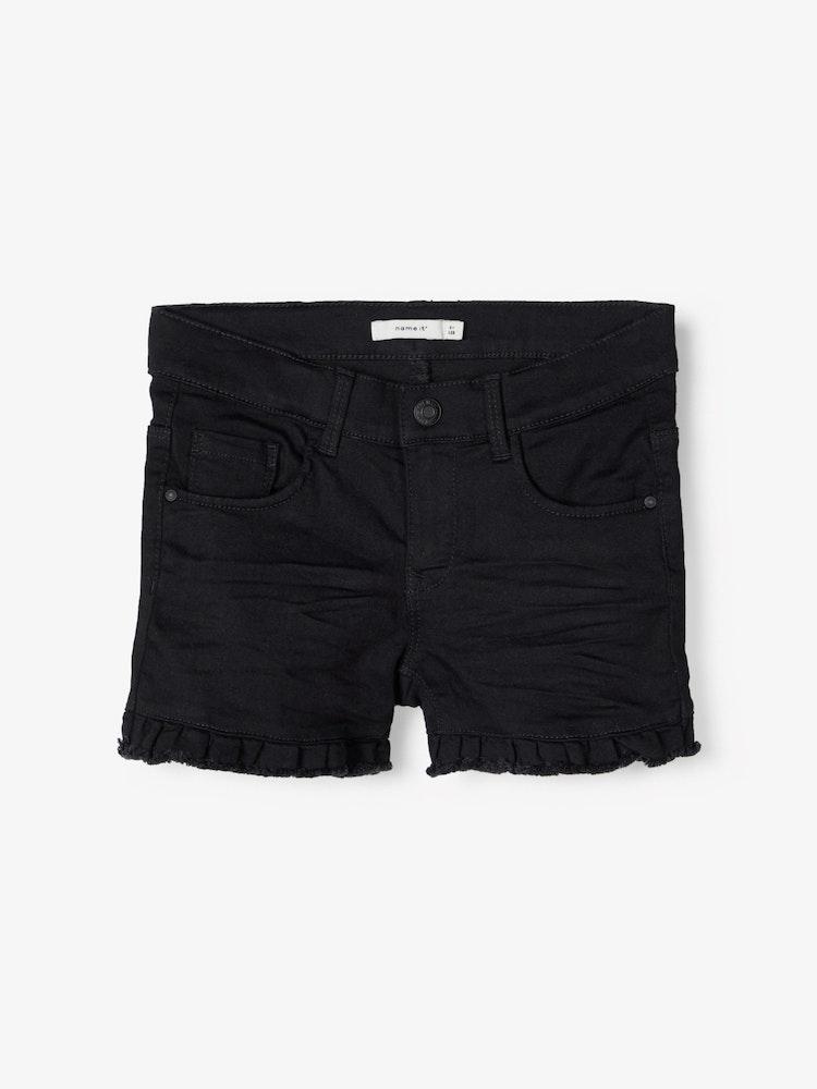 NAME IT - Svarta jeans shorts