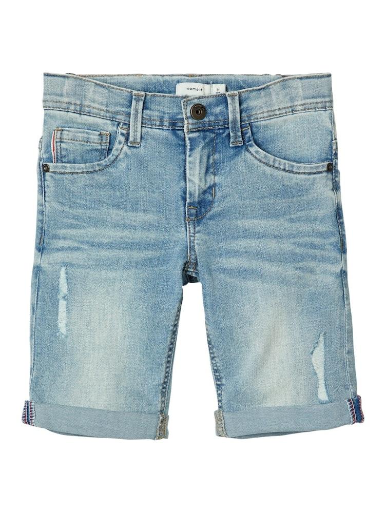 NAME IT - Ljusblå jeans shorts