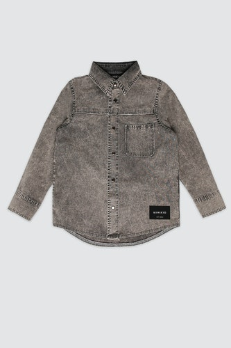 MINIKID - Marble grey shirt