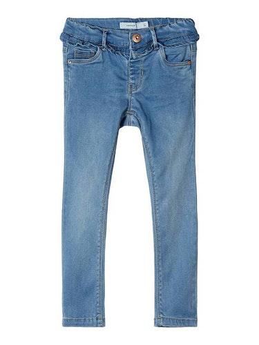 NAME IT - Ljusblå volang jeans