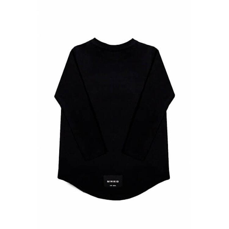 MINIKID svart långärmad t-shirt för barn.