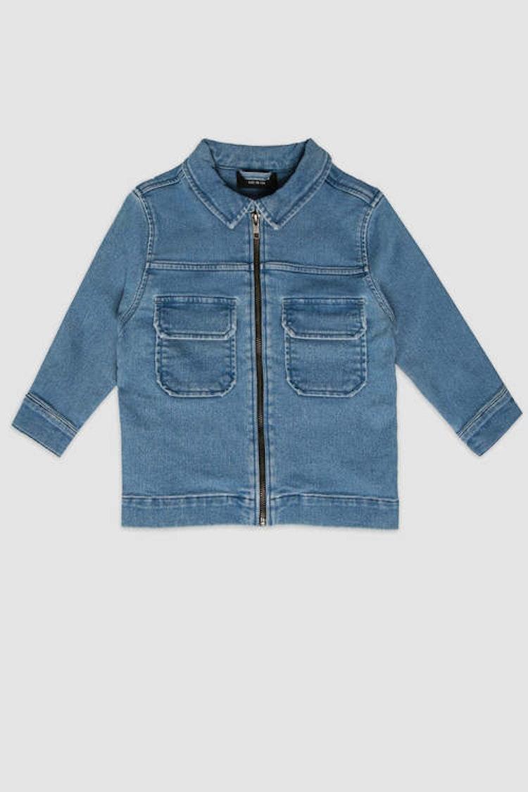 MINIKID ljusblå jeansjacka för barn
