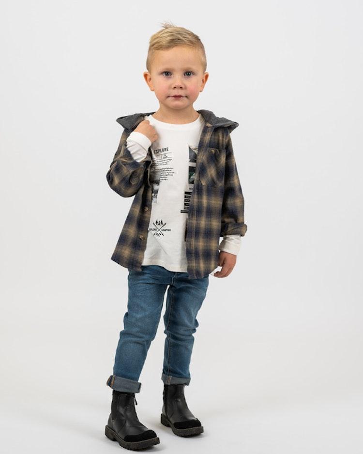 NAME IT - Rutig skjortjacka (mini)