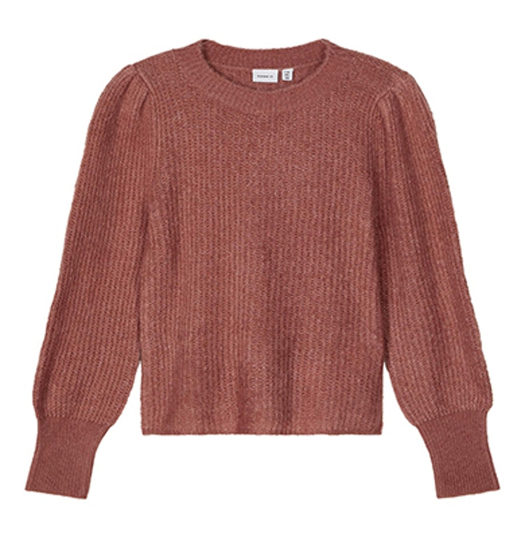 Rosa stickad tröja från NAME IT