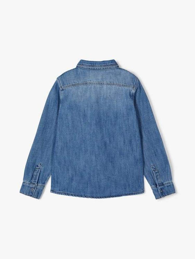 Blå jeansskjorta från NAME IT