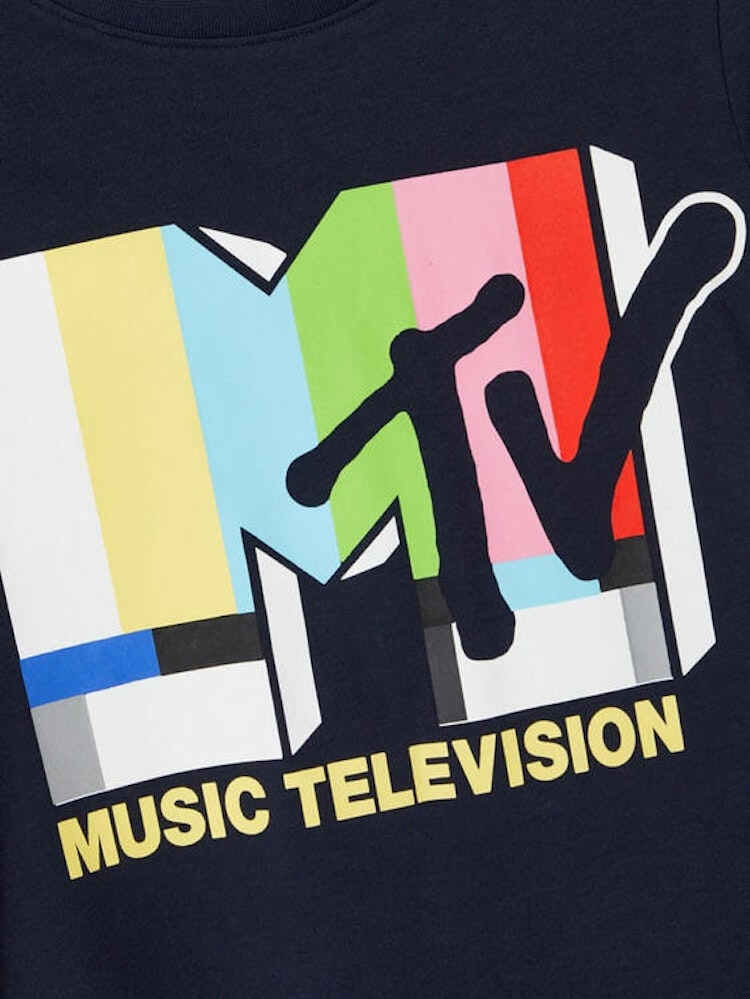 Blå MTV  T-shirt från NAME IT