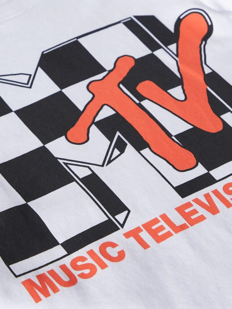 Vit MTV  T-shirt från NAME IT