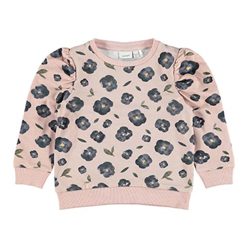 NAME IT - Blommig sweatshirt