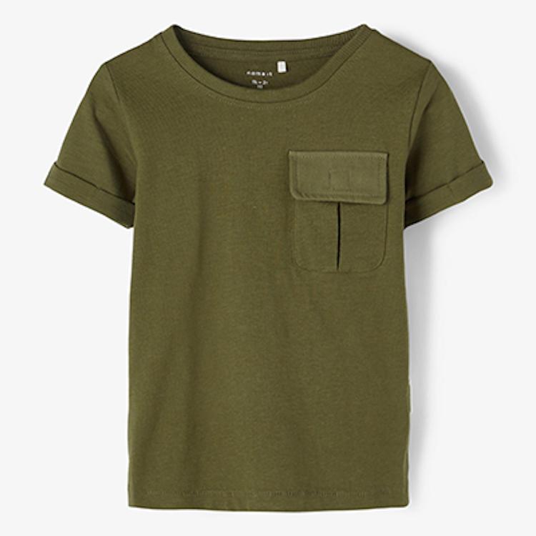 NAME IT - T-shirt med ficka