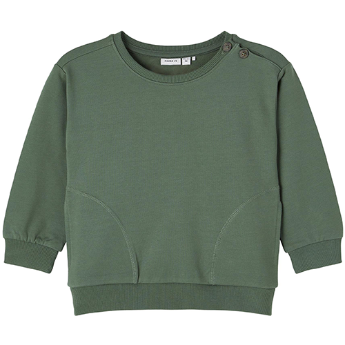 NAME IT - Sweatshirt med knappar
