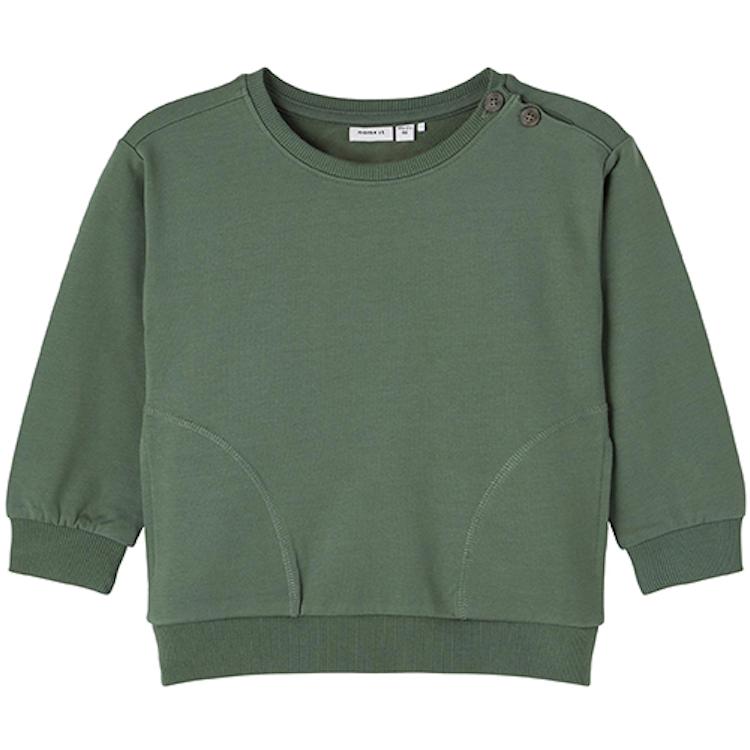 NAME IT - Sweatshirt med knappar