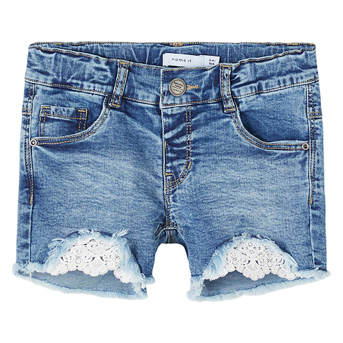 NAME IT - Jeansshorts spets mini