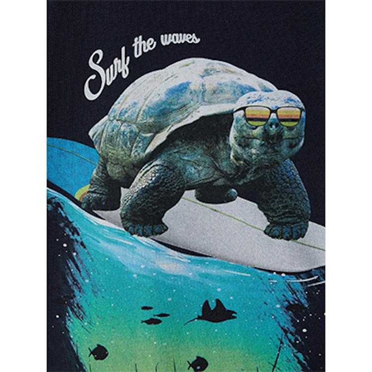 NAME IT - T-shirt haj&sköldpadda