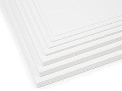 3 mm plast skumplade 250 x 500 mm hvid