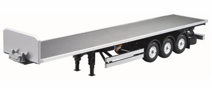 Flatbed trailer 3 akslet med høj forsmæk. 1/14