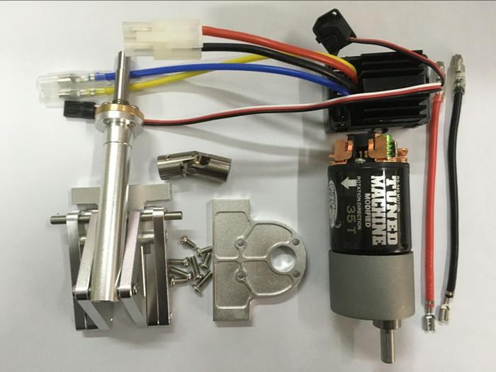 Tipspindel complet med fartregulator sølvfarvet.