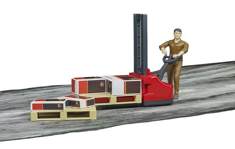 Bruder palle stabler med figur og paller