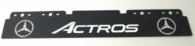 Stænklap lang model med ACTROS logo og navn