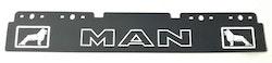 Stænklap lang model med MAN logo og navn