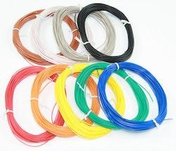 Lednings-sortiment (9 farver, 90m, 0,14mm, BLØD)