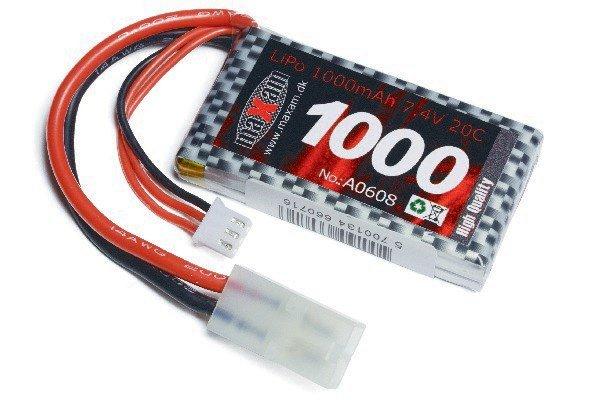 Maxam Lipo Battery 1000mAh 20C 7.4V