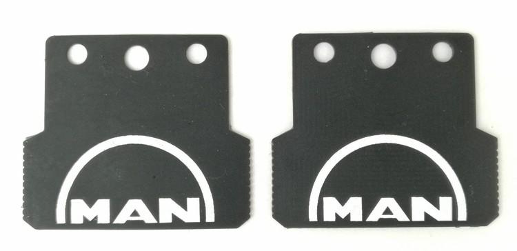 Stænklapper lille model med MAN logo og navn