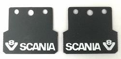 Stænklapper lille model med SCANIA V8 logo og navn