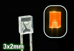 Orange 3x2mm Dioder (10stk)