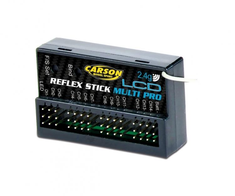 Modtagelse Reflex Stick Multi Pro LCD 2.4G
