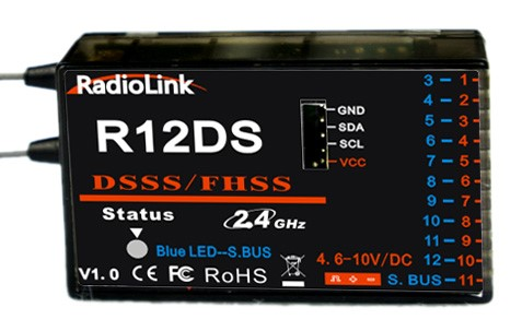 Modtager 12 kanals 2,4 Ghz