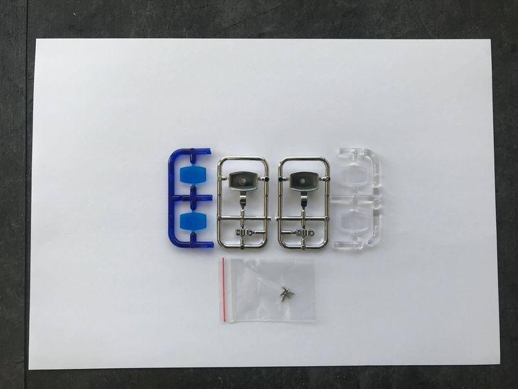 Lygtehuse 2 stk. firk. med blå/klar glas