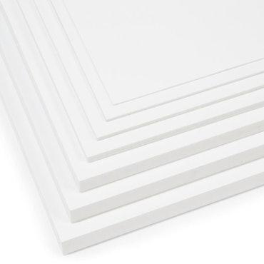 5 mm plast skumplade 250 x 500 mm hvid