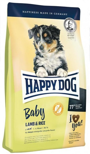 HAPPY DOG SUPREME YOUNG BABY LAM & RIS 10KG