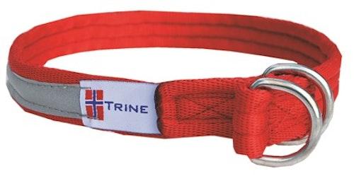 Trine dressurhalsbånd, helstrup m.refleks rød 7 størrelser fra 149,-