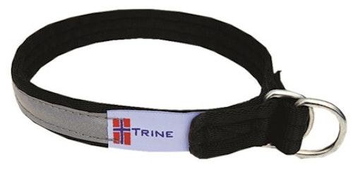 Trine dressurhalsbånd, helstrup m.refleks sort 7 størrelser fra 149,-
