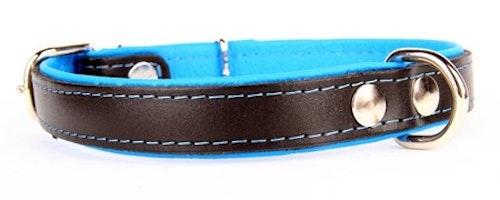 Lærhalsbånd Neo Blå 4 størrelser fra 149,-