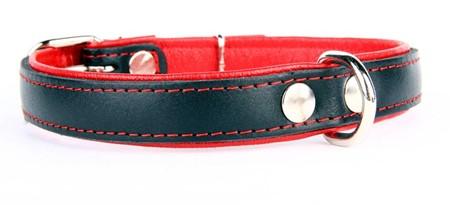 Lærhalsbånd Neo Rød 4 størrelser fra 149,-