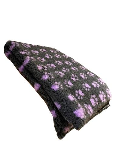VetBed - Koksgrå med lyserøde poter